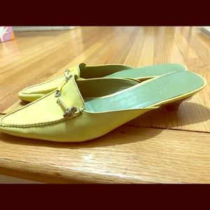 Used, Cole Haas mule shoes, patent yellow! 9 for sale